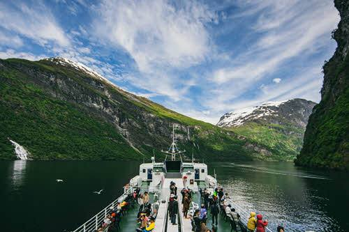 Ferry on Geirangerfjord by Samuel Taipale, Visit Norway