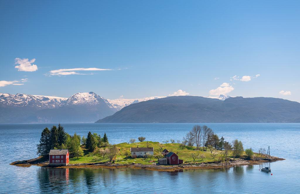 Hardangerfjord in summer by Sverre Hjornevik, Fjord Norway