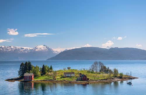 Hardangerfjord on a summer day by Sverre Hjornevik, Fjord Norway