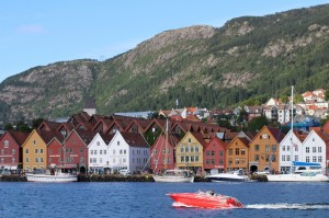Bergen Norway photo; the UNESCO Bryggen wharf. Photo by Rita de Lange, Fjord Travel Norway