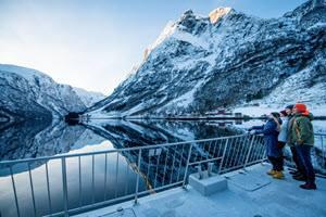 Sognefjord in winter by Sverre Hjornevik, Flam AS