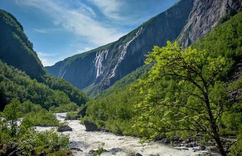 Voringfossen waterfall by Sverre Hjornevik, Fjord Norway