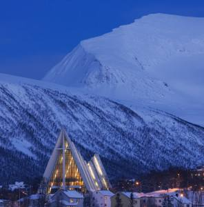 Arctic Cathedral Tromso. Photo by Baard Loeken, Nordnorsk Reiseliv