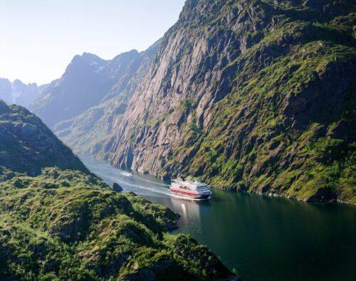 Hurtigruten MS Nordkapp In The Trollfjord. Photo By ToFoto, Hurtigruten