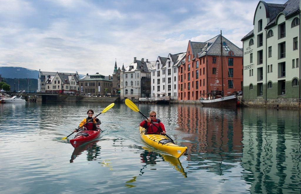 Alesund Brosundet canal. Photo by Sverre Hjornevik/Fjord Norway
