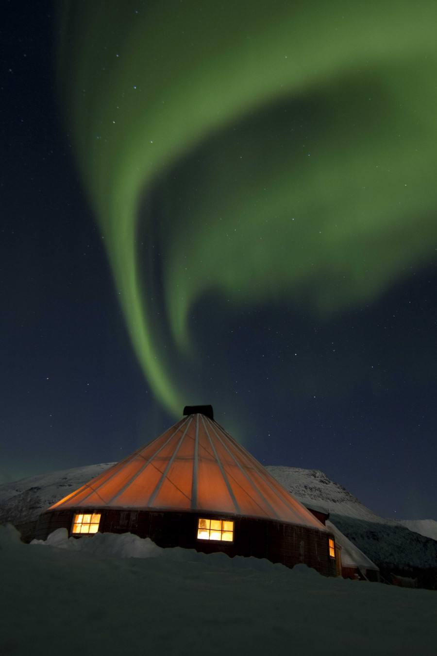 Northern Lights in Tromso area. Photo by Lyngsfjord adventures