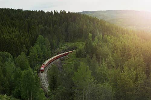 Bergen Line in Hallingdal Valley by Oivind Haug, NSB