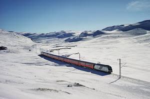 Bergen Railway in winter by Oivind Haug, NSB