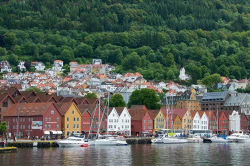 Colourful Bergen Bryggen by Oyvind Heen, Visit Norway