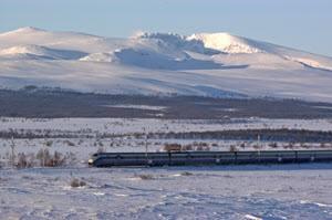 Dovre Line in winter by Rune Fossum, NSB