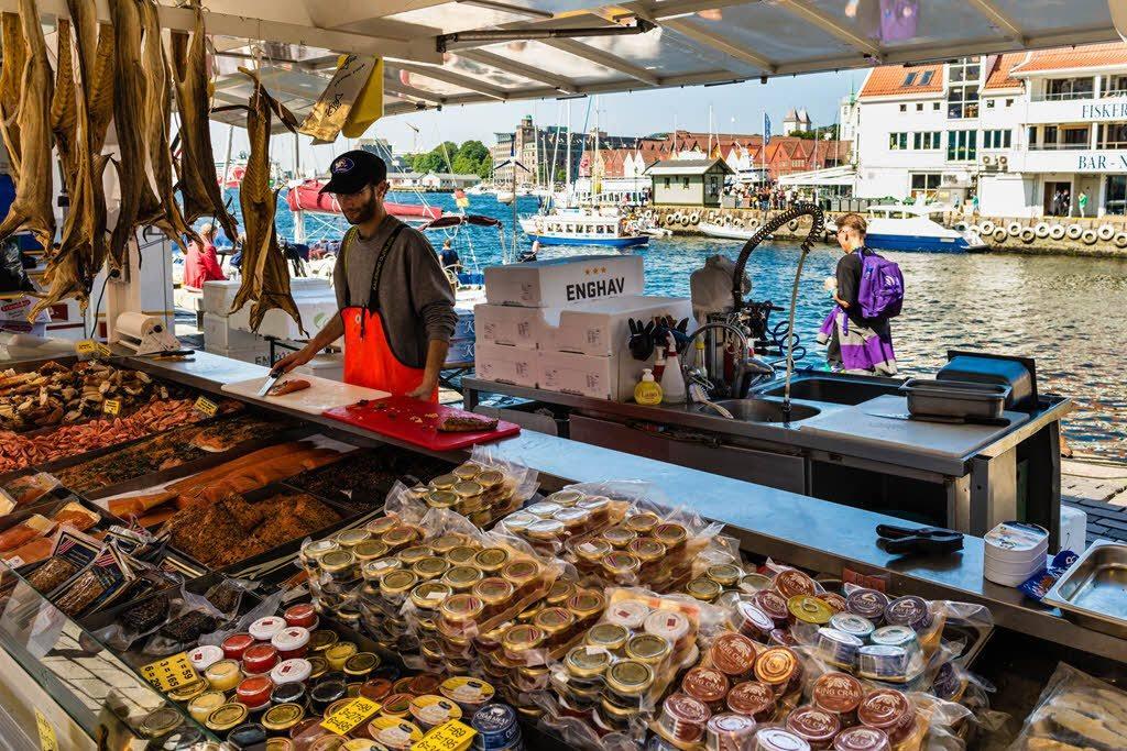 Fish market in Bergen by Robin Strand, Visit Bergen