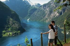 View of the Geirangerfjord. Photo by Fred Jonny Hammero/More og Romsdal fylke