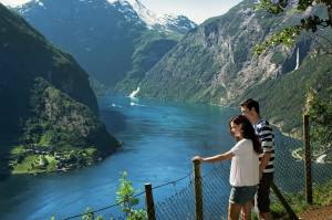 View of the Geirangerfjord. Photo by Fred Jonny Hammero/More og Romsdal fylke