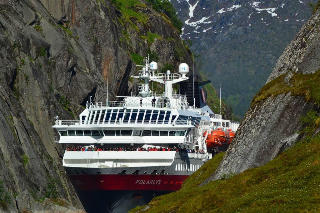 Hurtigruten in Trollfjord by Joachim Bolter, Hurtigruten