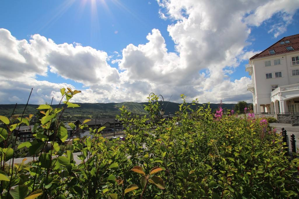 View of Geilo from Dr Holm's hotel. Photo by Rita de Lange, Fjord Travel Norway