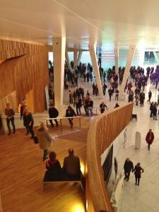 Oslo Opera house interior/entrance hall. Photo by Rita de Lange, Fjord Travel Norway
