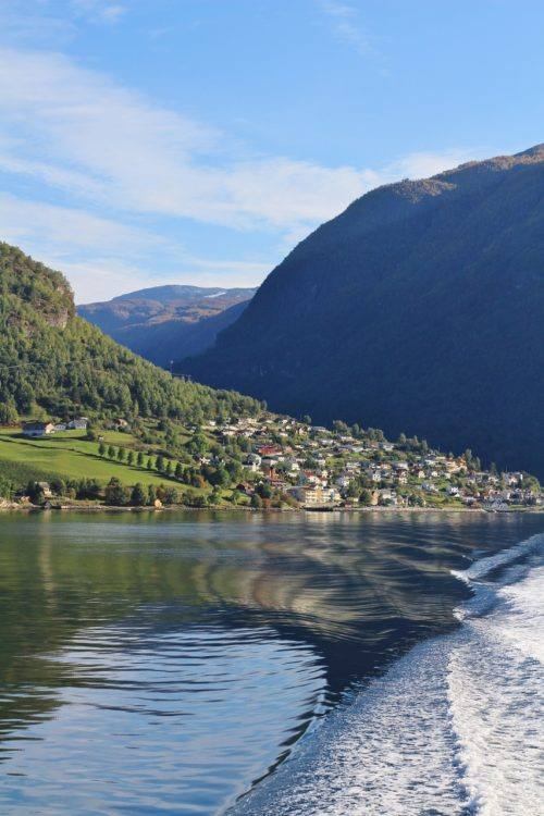 Aurland village Sognefjord. Photo by Rita de Lange, Fjord Travel Norway