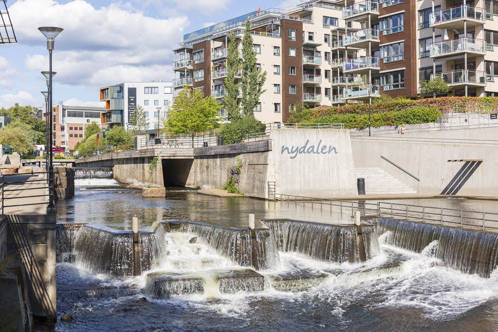 Modern Nydalen and Akerselva river by Didrick Sternersen, Visit Oslo