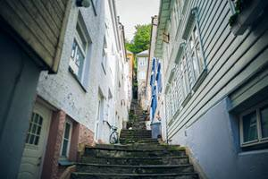 Narrow streets in Bergen by Cole Rise, Matador Network, Visit Bergen