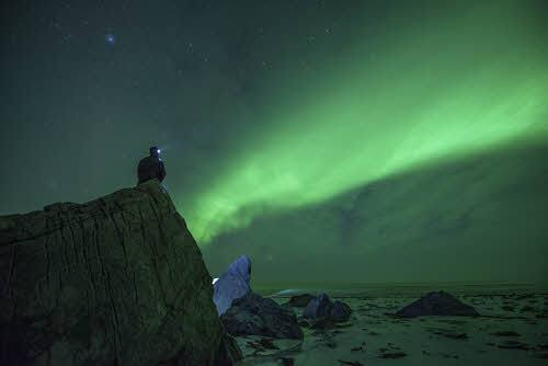 Northern Lights close to Kirkenes by Stian Klo, Hurtigruten