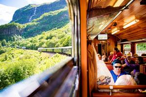 On board Flam Railway by Sverre Hjornevik, Flam AS