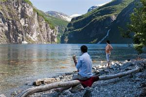 On the shores of Geirangerfjord by CH, Visit Norway