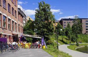 Along the river at Grünerlokka by Tord Baklund, Visit Oslo