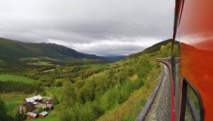 View from Dovre Line by Tore Bjorback Amblie, NSB