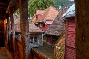 Wooden houses in the Bryggen area by Pixabay