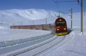 the Dovre rail line Norway. Photo by Rolf M Sorensen, NSB