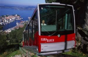 Norway: the Funicular in Bergen. Photo by Terje Rakke, Nordic Life/Innovation Norway