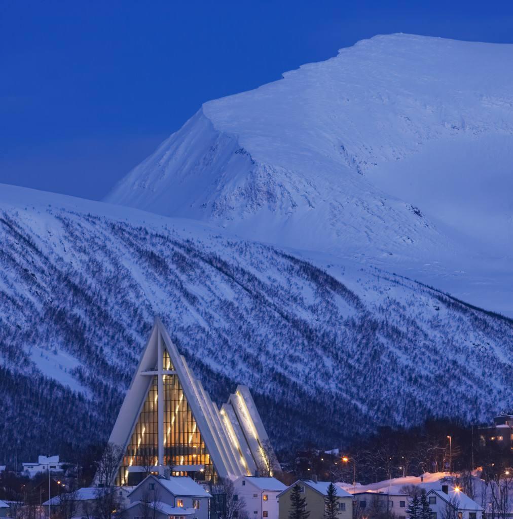 The arctic cathedral Tromso Norway. Photo by Baard Loeken www.nordnorge.com