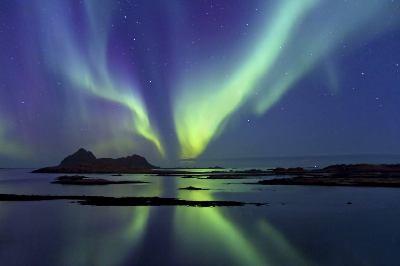 Northern Lights Arctic coast of Norway. Photo by Oystein Lunde Ingvaldsen, Nordnorsk Reiseliv
