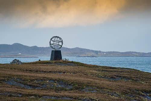 Arctic Circle Monument at the Helgeland Coast by Orjan Bertelsen, Hurtigruten