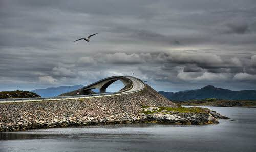 Atlantic Ocean Road by M. Dickson,Foap, Visit Norway