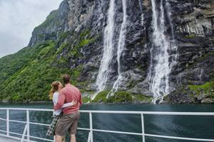 Beautiful Geirangerfjord by Agurtxane Concellon, Hurtigruten