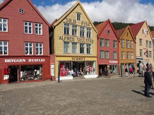 Bergen Bryggen area by Viale, Hurtigruten