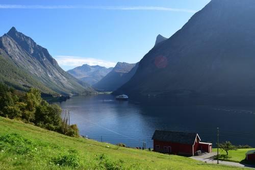 Hurtigruten in Hjorundfjord by Katrina Godlewski, Hurtigruten