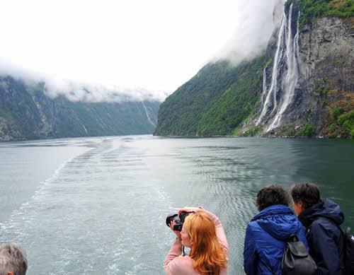 Experience waterfalls on Geirangerfjord by Katrina Godlewski, Hurtigruten