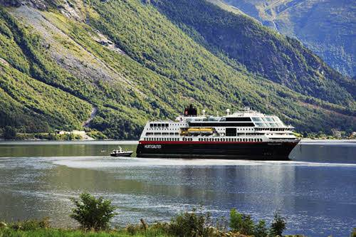 Hurtigruten in Hjorundfjord by Madi Sarglepp, Hurtigruten