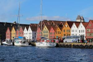 The UNESCO Bryggen wharf Bergen. Photo by Rita de Lange, Fjord Travel Norway