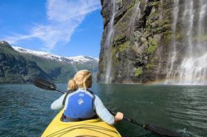 Kayaking on Geirangerfjord by Terje Rakke, Nordic Life,Visit Norway
