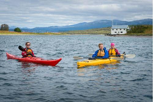 Kayaking in Tromso by Nina Helland, Hurtigruten