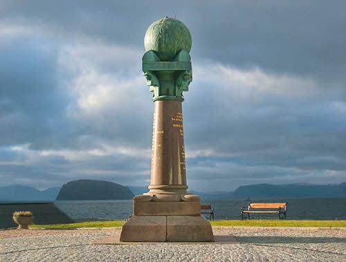 Meridian Column Hammerfest by Bjorn Geirr Harsson, Hurtigruten