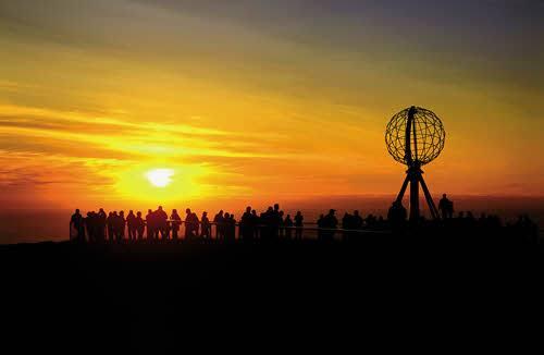 Midnight Sun North Cape by Bjarne Riesto, Nordnorsk Reiseliv