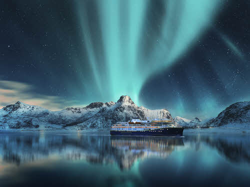 Northern Lights cruise Norway by Havila Voyages