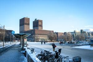 Oslo City Hall in winter by Thomas Johannessen, Visit Oslo