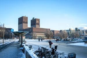 Oslo City Hall in winter by Thomas Johannessen, Visit Oslo