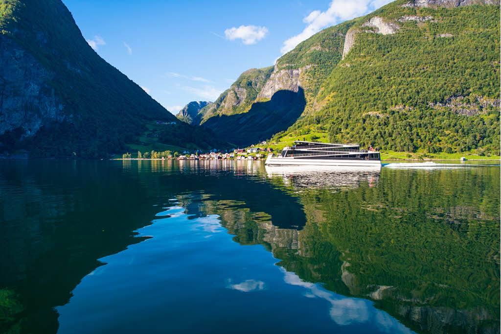 Summer on Naeroyfjord by Sverre Hjornevik, Flam AS