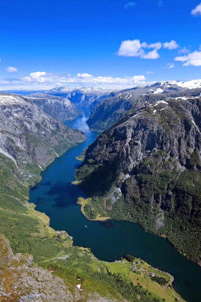The Unesco Naeroyfjord. Photo creidt Fjord Norway